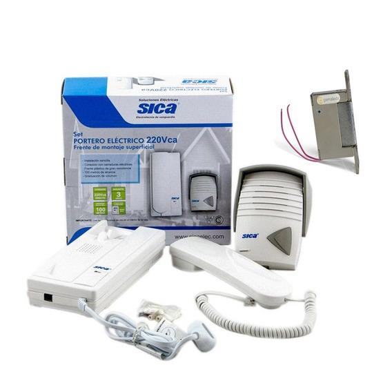 Portero Eléctrico Aplicar Sica + Cerradura Eléctrica Simple