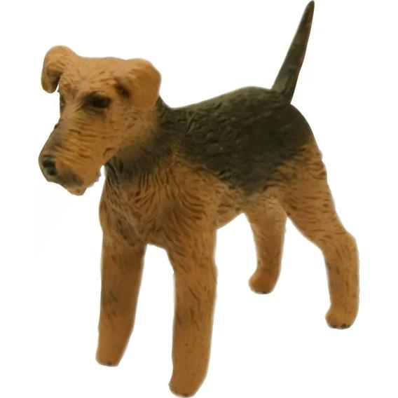 Miniatura Cão Cachorro De Raça Airedale Terrier Em Pvc