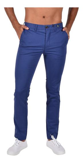 Pantalón Slim Fit Tommy Azul Mw0mw04280-484 Hombre