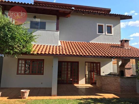 Casa Para Alugar, 266 M² Por R$ 3.450,00/mês - Distrito De Bonfim Paulista - Ribeirão Preto/sp - Ca2804