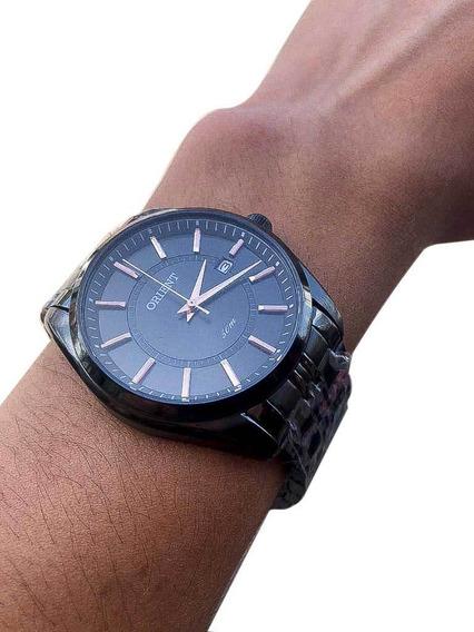 Relógio Orient Analógico Masculino Preto - Myss1007 G1gx