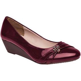 21df41e5bd Zapato Dama Tacon Cu A Color Vino 5 Cms Mujer - Zapatos en Mercado ...