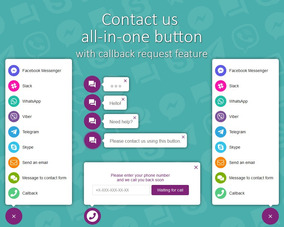 Plugin Wordpress Contact Us All-in-one Button With Call