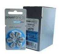 60 Baterias P675 Powerone Implant Plus,imp. Coclear Val.2023