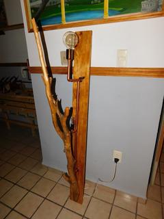Lámpara Rústica Pared,tronco Árbol Vertical,2 Focos E27/e17