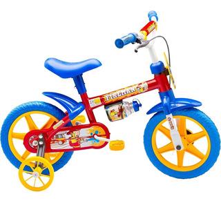 Bicicleta Infantil Aro 12 Nathor Fireman 7 Masculino