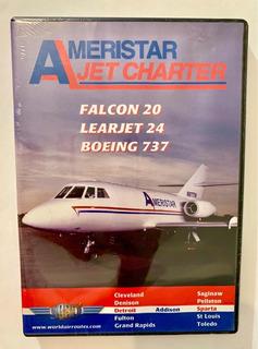 Dvd Ameristar Jet Charter ( Falcon 20 / Learjet 24 / B737)