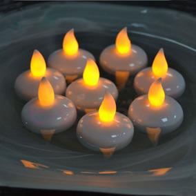 Impermeable Flotante Led Tealight Vela Boda Luces De...
