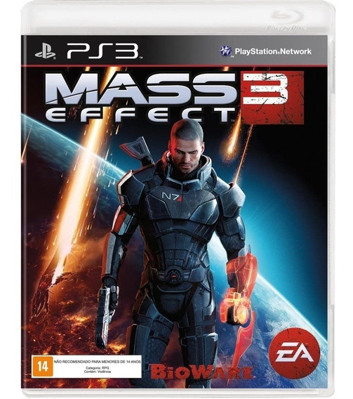 Mass Effect 3 Ps3 Mídia Física Lacrado