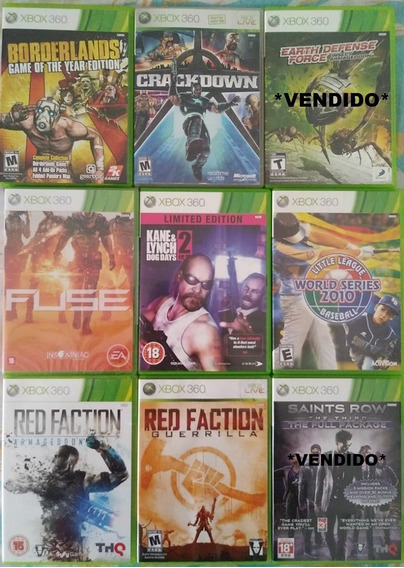 Jogos Originais Xbox 360 Apenas R$ 39,99 Cada Com Garantia