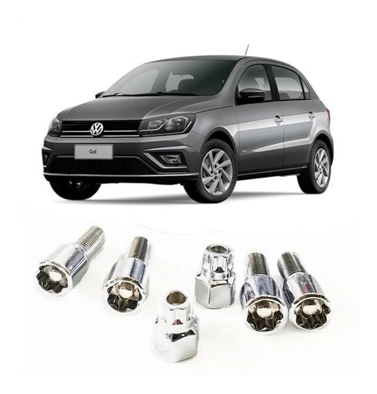 Kit De 4 Birlos De Seguridad Para Volkswagen Gol 12x1.5