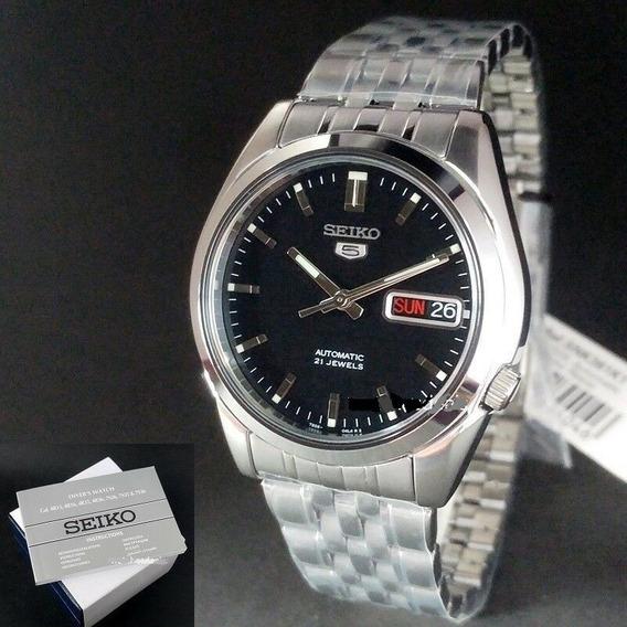 Relógio Aço Inox Automático Seiko 5 Snk361 K1 21 Jewels