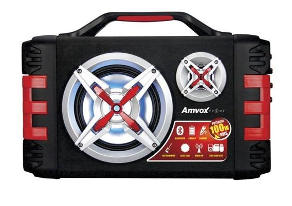 Caixa Amplificada Amvox Aca 150 Bluetooth Usb Microsd Aux