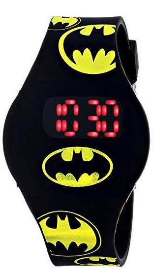Reloj De Batman Con Banda De Goma Negro, Importado, Original