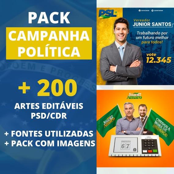 Pack 200 Artes Campanha Política/político Editável Em Psd