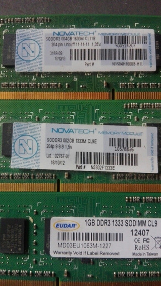 Memorias Ram Ddr3 1,2 Y Gb Notebook