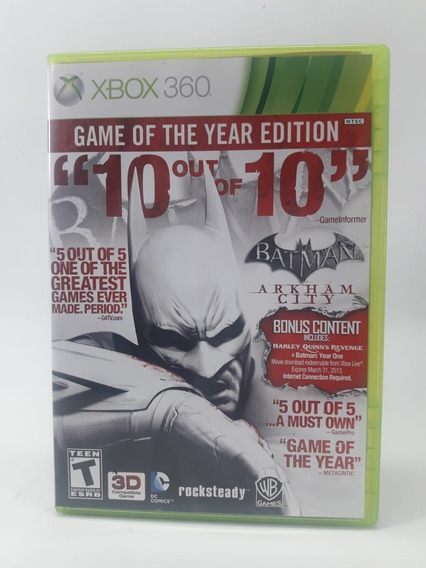Jogo Batman Arkham City Xbox 360 Mídia Física Frete Grátis