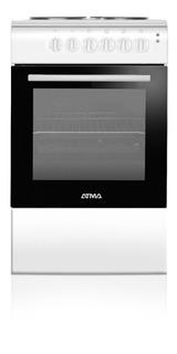 Cocina Electrica Atma 4 Bocas 50cm Horno Blanca Cce3110b