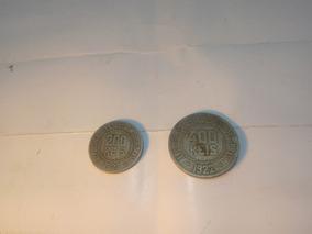Moedas 400 Reis De 1921 E 200 Reis 1927 Liberty
