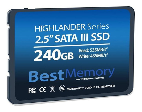 Hd Ssd 240gb 2.5 Sata 3 Best Memory 7mm Btsda-240g-535