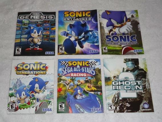 Manual De Jogos De Ps3 Sonic Batman Gta ** Leia