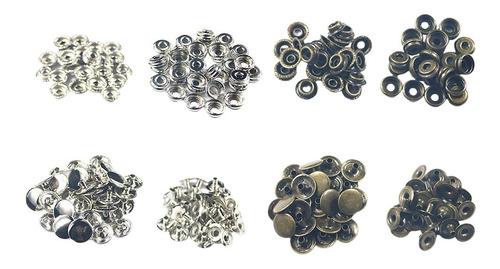 Imagen 1 de 11 de 100 Piezas De Sujetadores A Presión, Botones De Presión