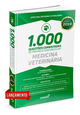 Livro 1000 Questões Medicina Veterinária Concurso 2019