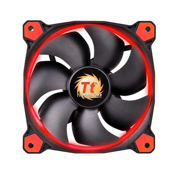 Cooler Fan Gabinete Pc Thermaltake Riing Led Vermelho 120mm