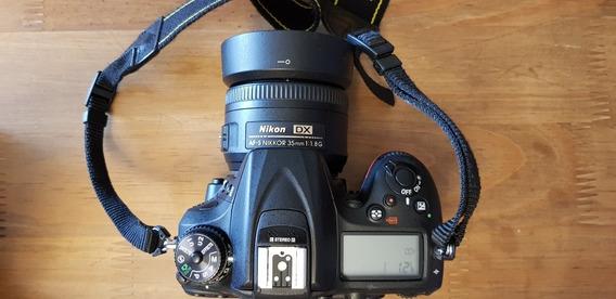 Nikon 7200 + Lente 35mm Nikkor + Sd 32gb + Mochila