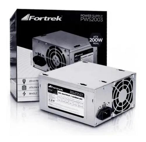 Imagem 1 de 3 de Fonte de alimentação para PC Fortrek PWS-2003 200W prata 115V/230V