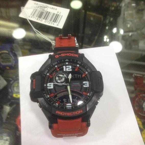 Relogio Casio G-shock Ga-1000-9b Vermelho ( Usado )