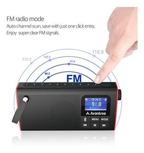 Radio Fm Portátil 3 En 1 Avantree Con Altavoz Inalámbrico