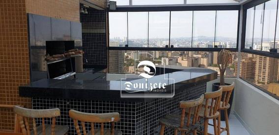 Cobertura Com 3 Dormitórios À Venda, 176 M² Por R$ 1.100.000,10 - Vila Bastos - Santo André/sp - Co0281