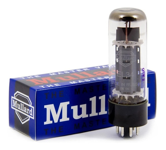 Válvula Mullard El34 Power Potência Amplificador Par Casado