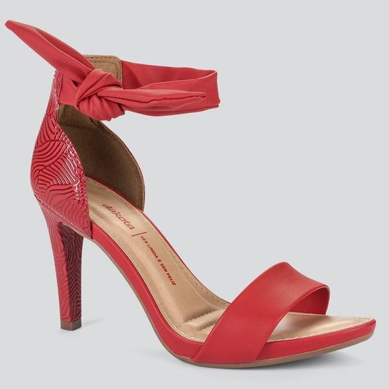 Sandália Vermelha Salto Dakota