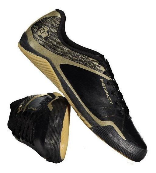 Chuteira Penalty Atf Storm Zon3 Vii Futsal Preta-dourada