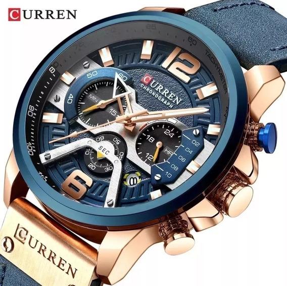 Relógio Masculino Curren 8329 Esportivo Original Promoção