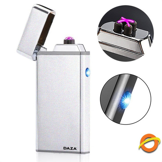 Encendedor Electrico Doble Arco Plasma Usb Recargable