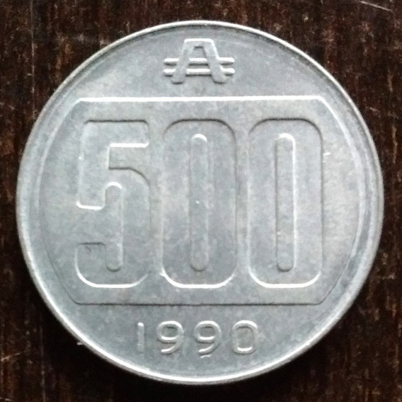 Moneda 500 Australes Argentina 1990 Muy Buena