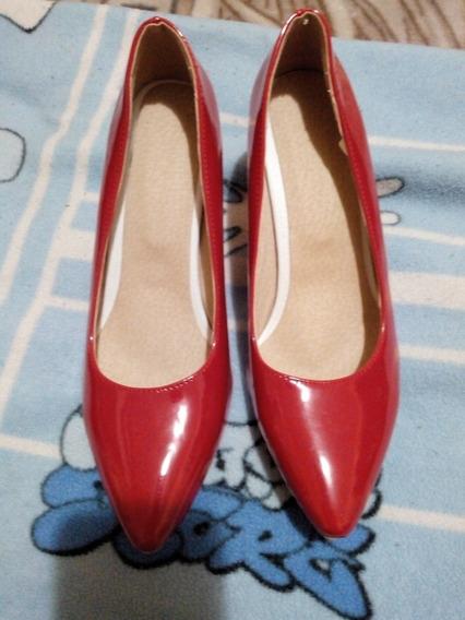 Zapatos Taco Aguja Rojos