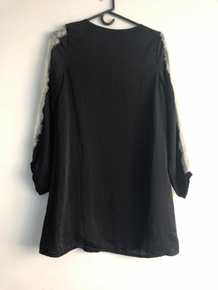 Vestido Negro Con Encaja