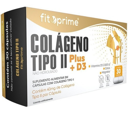 Colágeno Tipo 2 Plus + D3 40mg 30cps Fitoprime