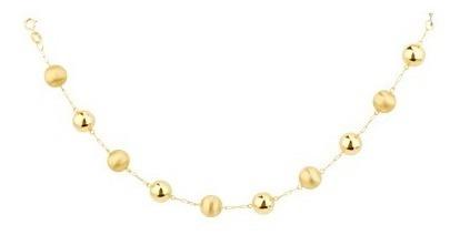 Monreale Maravilhosa Pulseira 10 Bolas Ouro 18k Trabalhadas