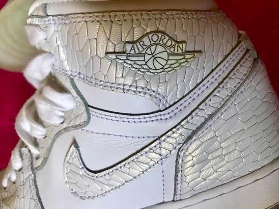 Tênis Original Nike 37 Couro Usado Uma Vez Branco