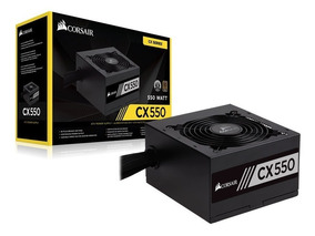 Fonte Corsair Gamer Cx550 550w 80plus Bronz Cp-9020121-ww Nf