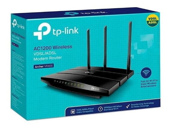 Modem Router Wifi Adsl Tp-link Archer Vr400 Ac 1200mbps Dual