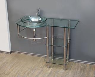 Esatto® Mueble Baño Lavabo Cristal 100 Cm Ancho Mv-015