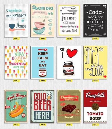 Placas Decorativas Sua Cozinha Mais Aconchegante Mdf 3mm