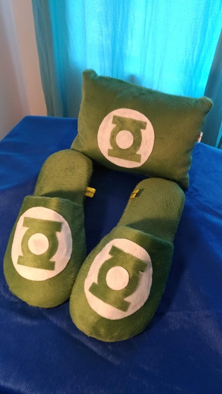 Pantufa + Almofada Tema Lanterna Verde