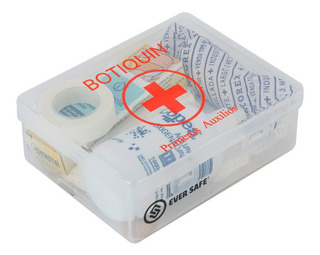 Botiquín Primeros Auxilios Eversafe 10 Elementos Para Auto Apto Vtv Modelo P10